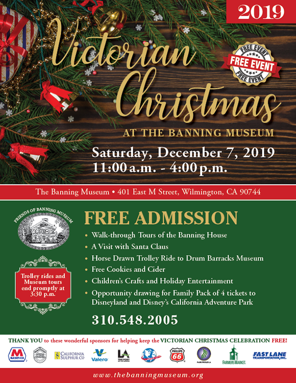 Banning Museum Victorian Christmas flyer