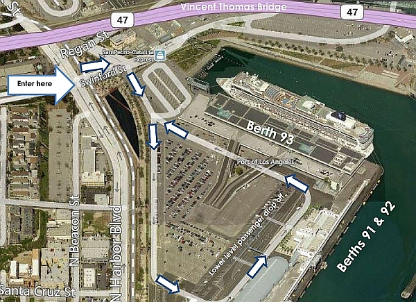 Map of World Cruise Terminal at Port of Los Angeles