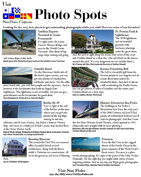 San Pedro photo spots flyer