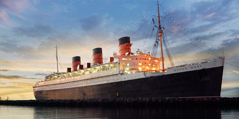 Queen Mary in Long Beach Harbor