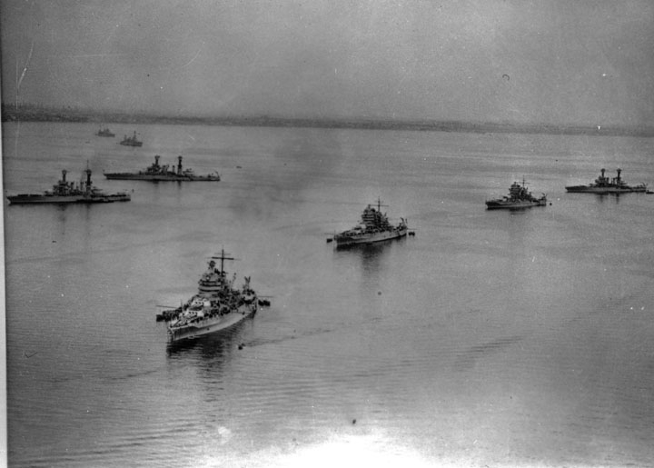US Navy in LA Harbor 1932
