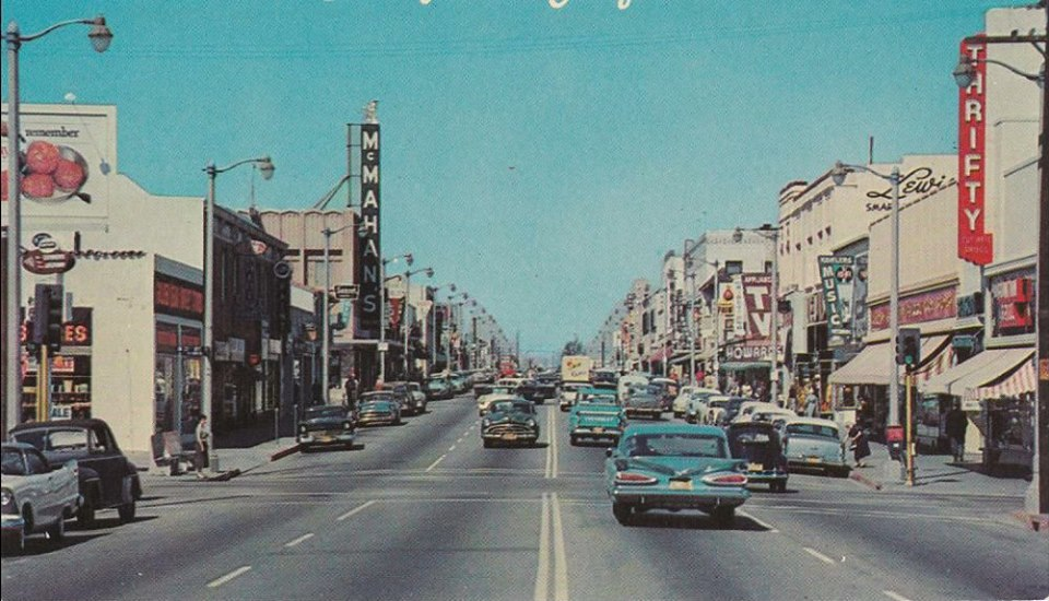Photo of Pacific Avenue around 1960