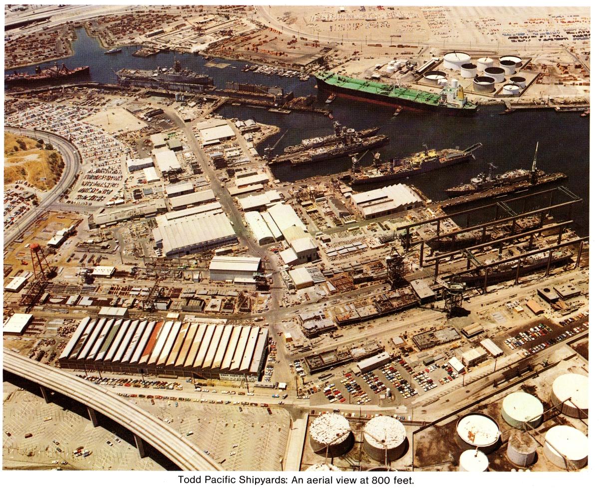 Todd Shipyard aerial view