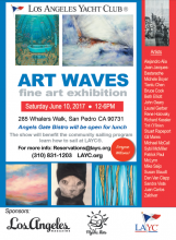 Art Waves exhibition flyer June 10 LA Yacht Club