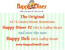 Happy Diner three locations