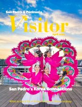 Photo of April 2020 cover of San Pedro & Peninsula Visitor magazine with Korean dancers on boardwalk