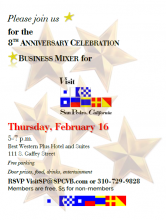Visit San Pedro 8th Anniversary Invitation