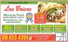 The Original Las Brisas weekly coupons