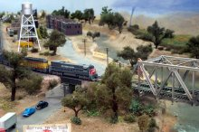 Belmont Shore Model Railroad Club layout detail